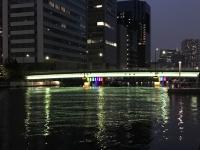 御楯橋のライトアップ点灯式