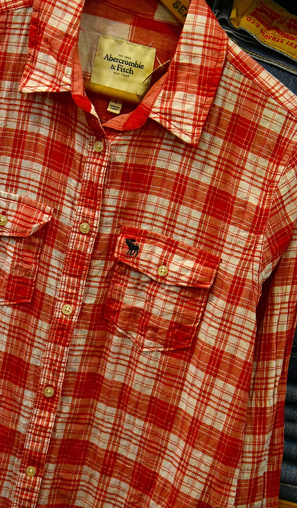 USED長袖ワンポイントシャツ画像@古着屋カチカチ2