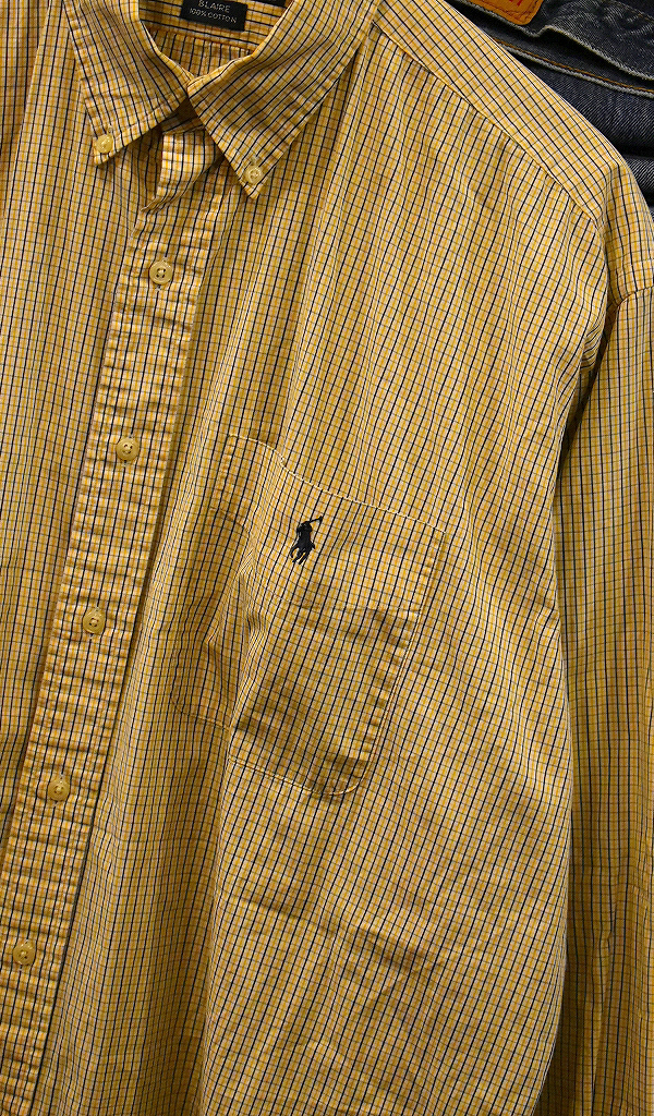 USED長袖ワンポイントシャツ画像@古着屋カチカチ6