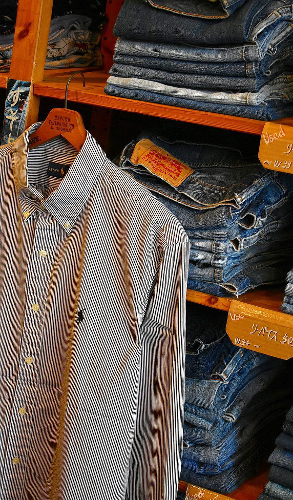 春物ストライプシャツ画像@古着屋カチカチ6