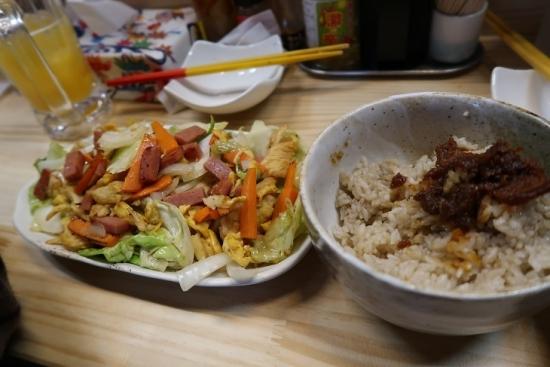 フーチャンプルーと砂糖きびご飯にアンダンスー