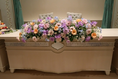 披露宴のお花