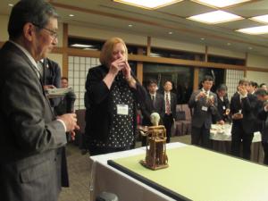 WSI代表、日本茶をご賞味