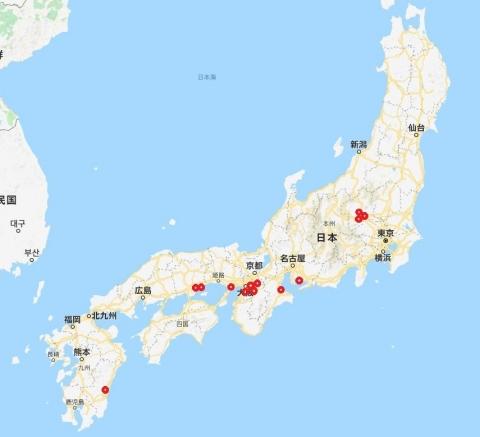 日本地図白地図