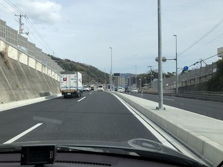 3142019 休山トンネル2車線化後初通過 S3