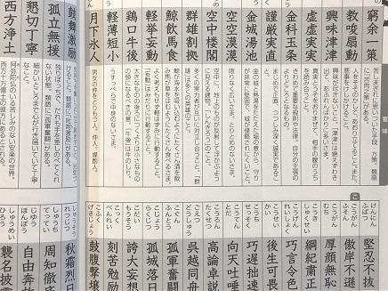 3192019 漢検四次熟語 S