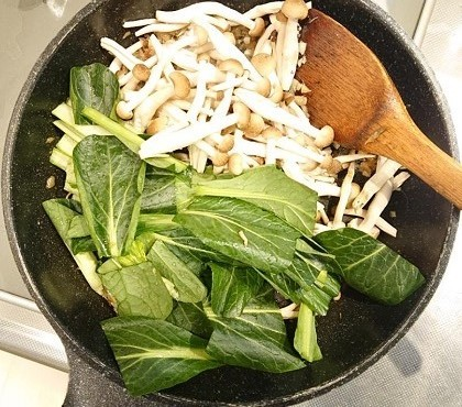 鮭と小松菜の台湾風炒め6