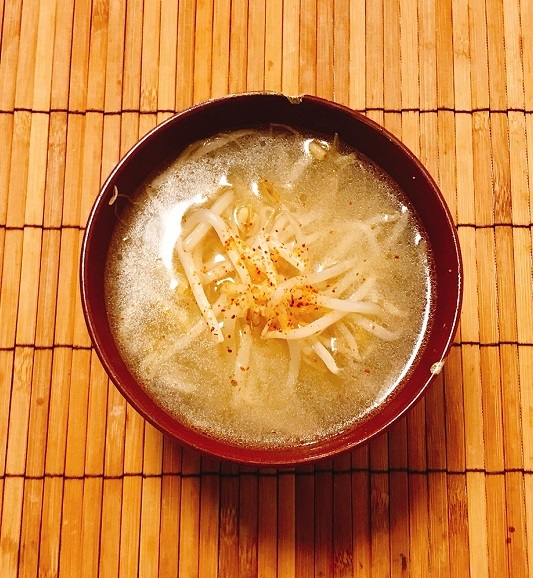 荒岩流もやしの味噌汁10