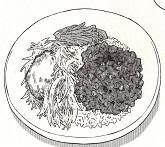 納豆入り肉そぼろご飯図