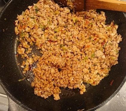 納豆入り肉そぼろご飯9
