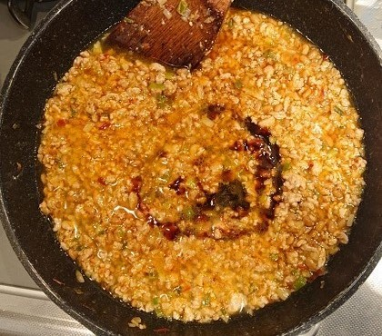 納豆入り肉そぼろご飯10
