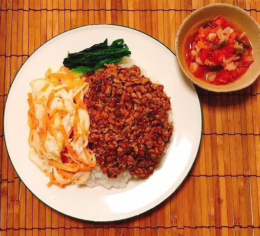 納豆入り肉そぼろご飯12