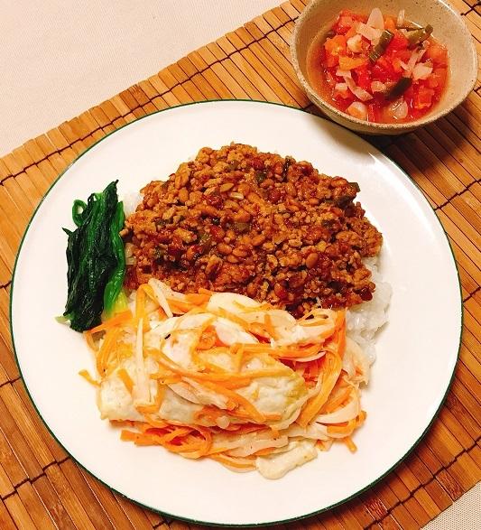 納豆入り肉そぼろご飯13