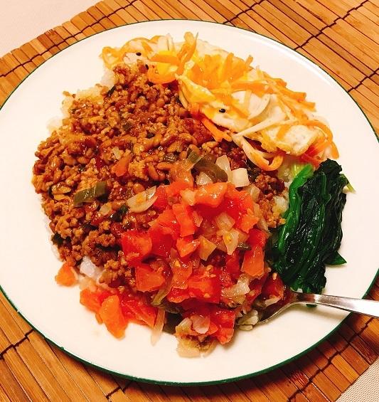 納豆入り肉そぼろご飯15
