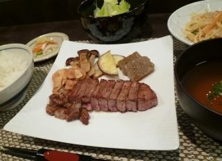 ステーキ定食1350