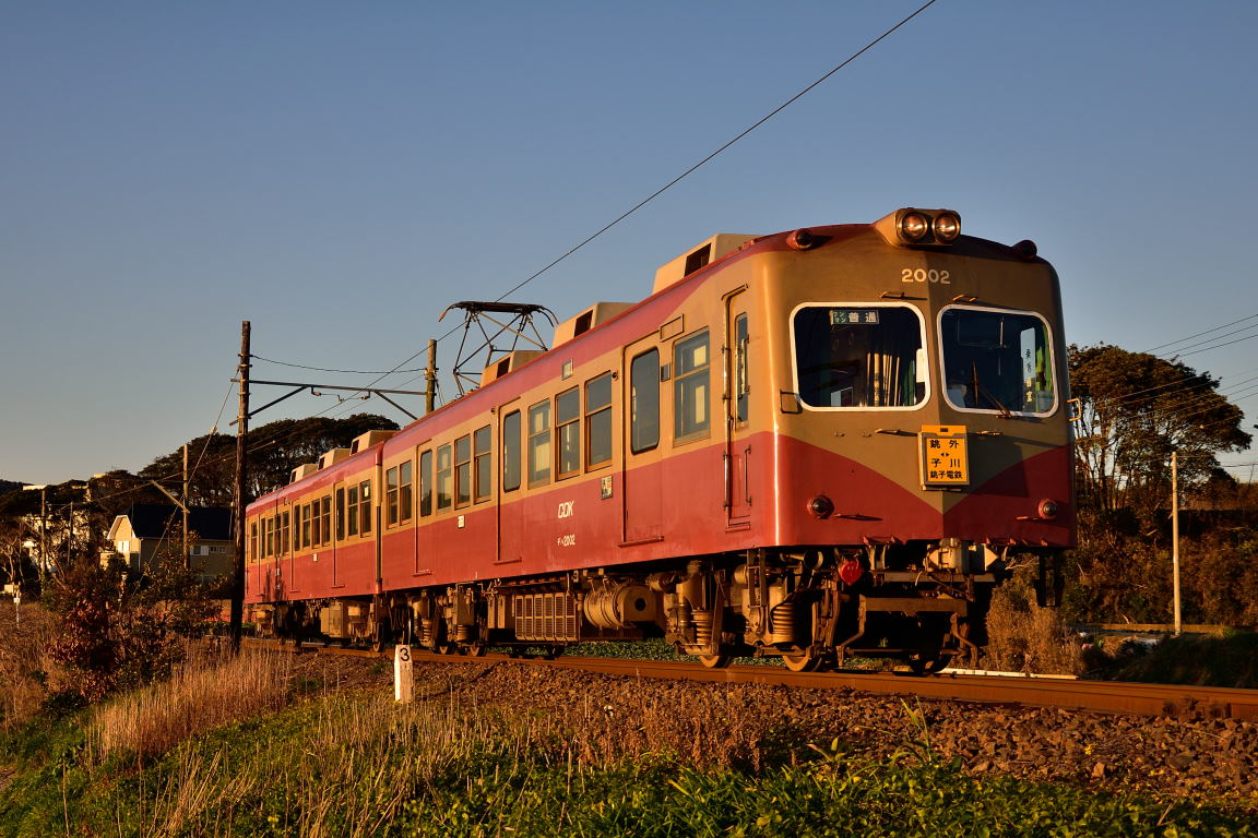 2019.02.18_0659_21 海鹿島~君ヶ浜 銚子電鉄2002編成