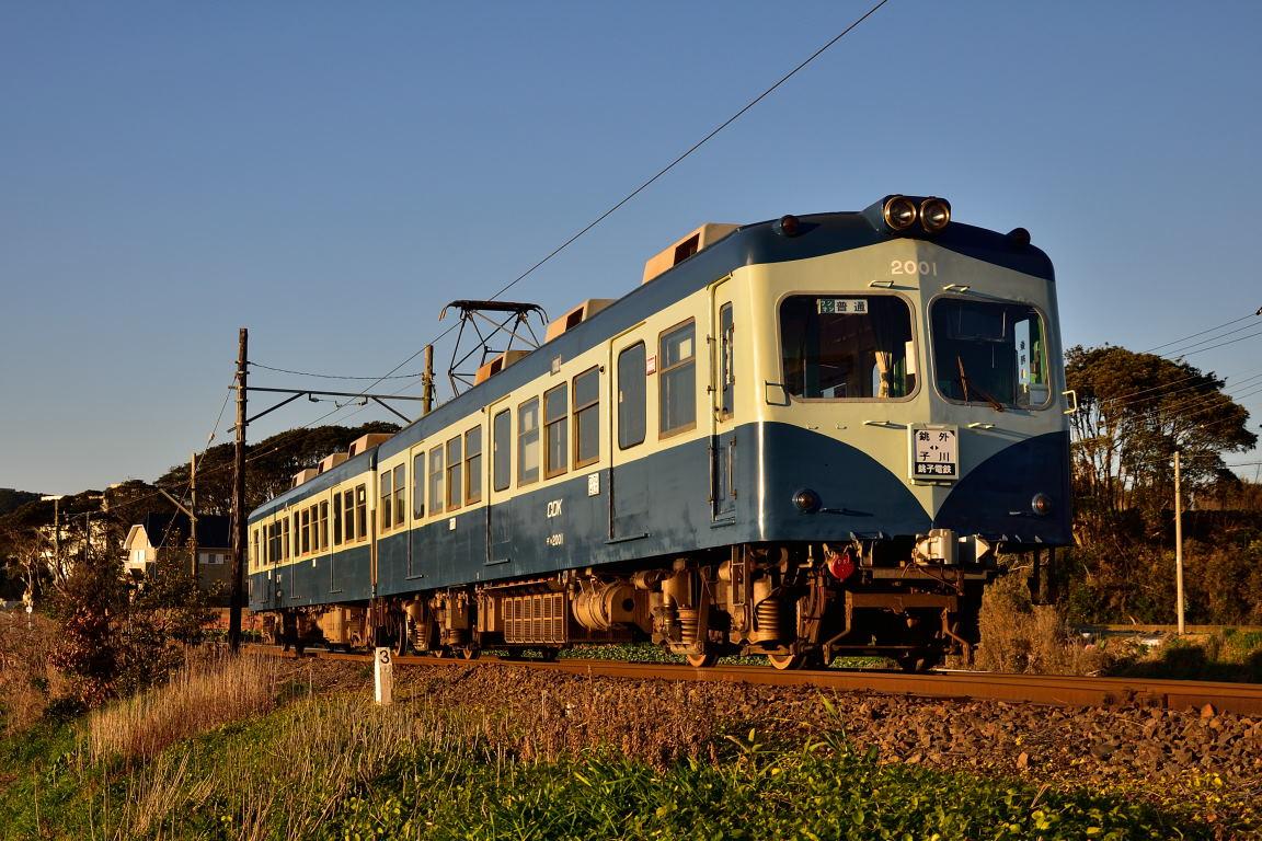 2019.02.18_0708_39 海鹿島~君ヶ浜 銚子電鉄2001編成