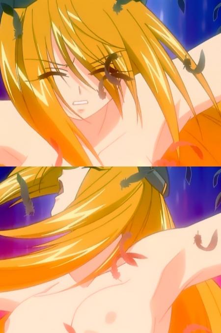 円盤皇女ワるきゅーレ 十二月の夜想曲 ワルキューレ・ゴーストの胸裸ヌード変身シーン乳首59