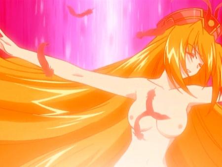 円盤皇女ワるきゅーレ 十二月の夜想曲 ワルキューレ・ゴーストの胸裸ヌード変身シーン乳首61