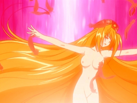 円盤皇女ワるきゅーレ 十二月の夜想曲 ワルキューレ・ゴーストの全裸ヌード変身シーン乳首62