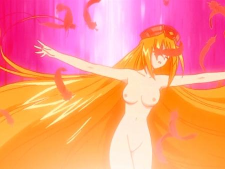 円盤皇女ワるきゅーレ 十二月の夜想曲 ワルキューレ・ゴーストの全裸ヌード変身シーン乳首63