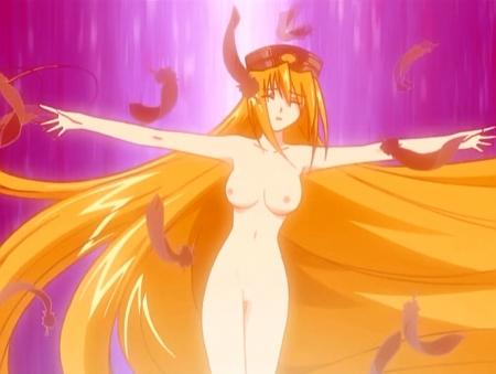 円盤皇女ワるきゅーレ 十二月の夜想曲 ワルキューレ・ゴーストの全裸ヌード変身シーン乳首65