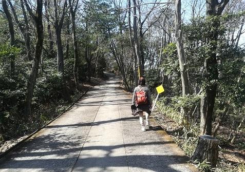 2 家内と明神山へ登る
