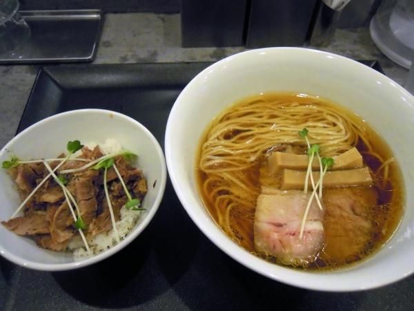やまぐち 鶏そば+ミニ豚丼セット