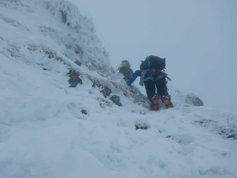 頂上まで最後の急登