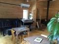 小倉カフェ楽器とストーブ