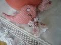 ナンフェア タティングレースミニドレスのブローチ