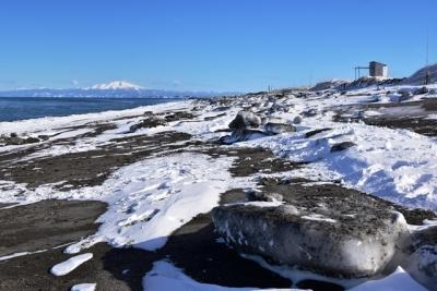 オホーツク海岸に打ち上げられた流氷