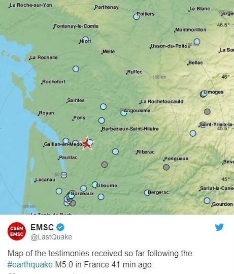 フランス南西部で「M5.0」の地震が発生…地震が全くない国で揺れ珍しい