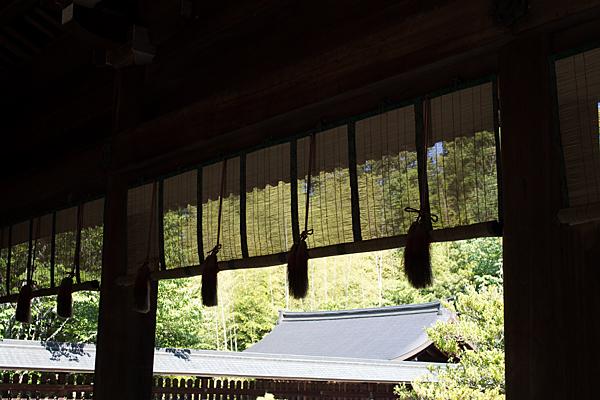 吉野神宮拝殿より