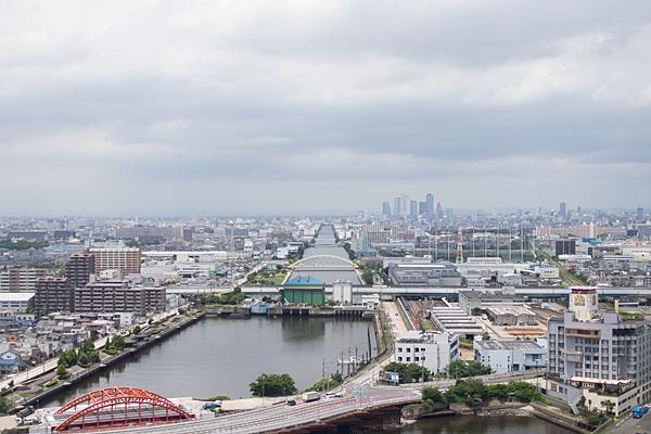 名古屋港から名駅方面