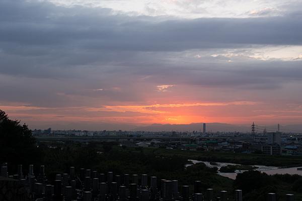 龍泉寺裏夕景