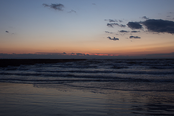 内海の海夕景