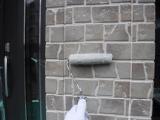 外壁クリヤー上塗り1回目2