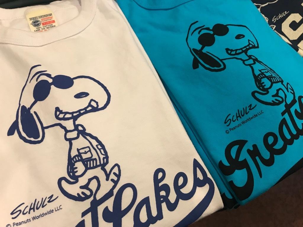 スヌーピーのTシャツ。GREAT LAKES 【横田店】