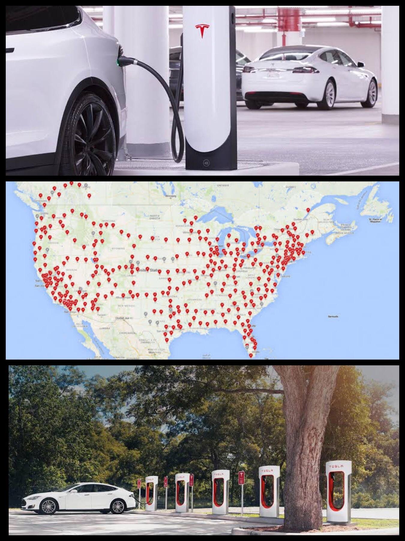 テスラ V3 スーパーチャージャー急速充電システム supercharger level3 USA
