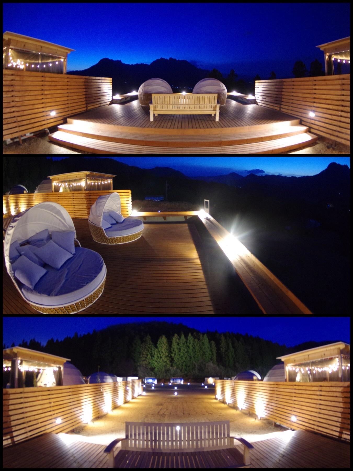 妙義山グリーンホテル&テラス グランピング ラグジュアリーテント