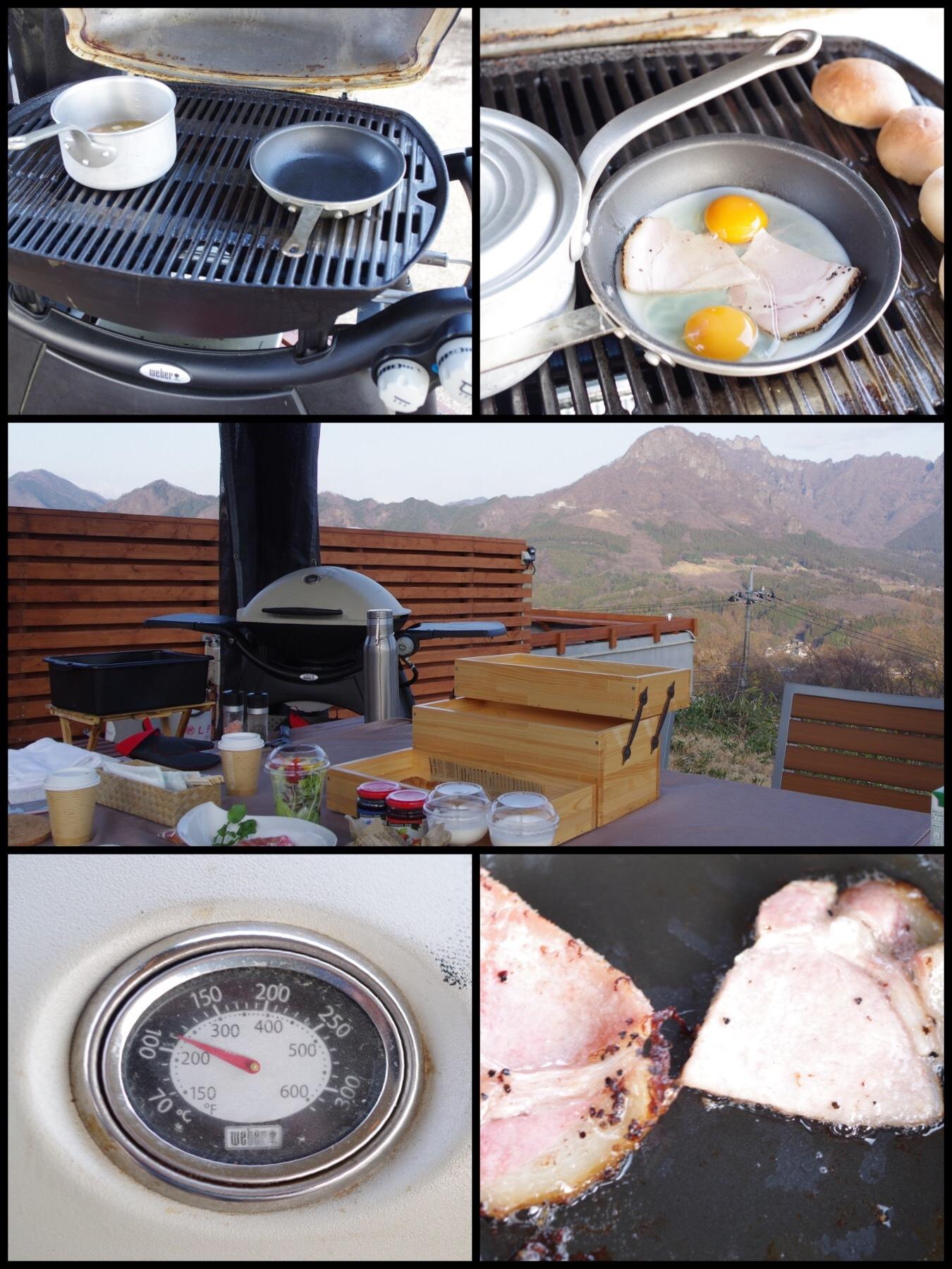 妙義山グリーンホテル&テラス グランピング 朝食