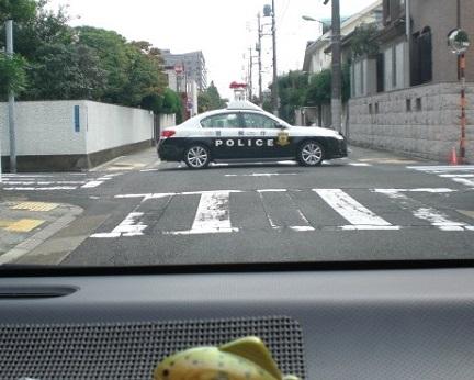 パトカーが道路封鎖してます。nw('2016','09','29','13')