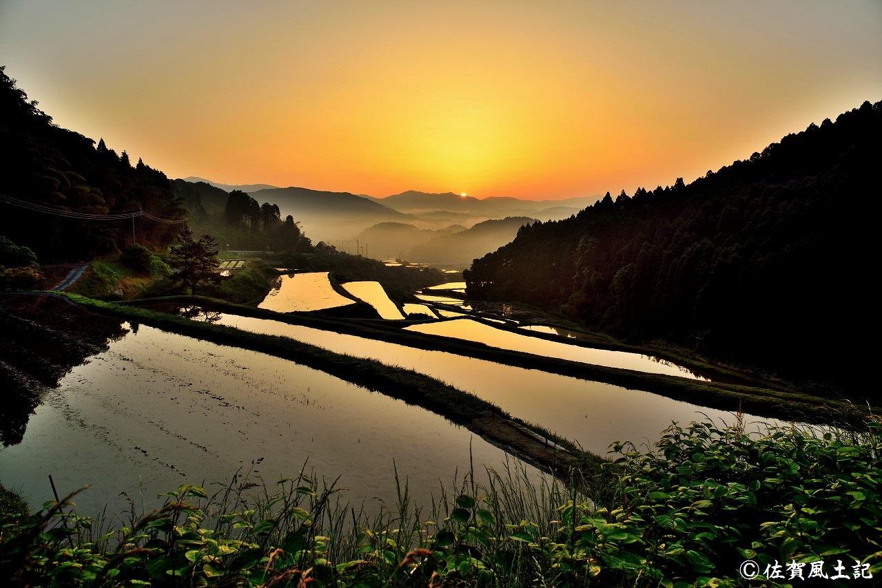 佐賀市富士町西の谷棚田