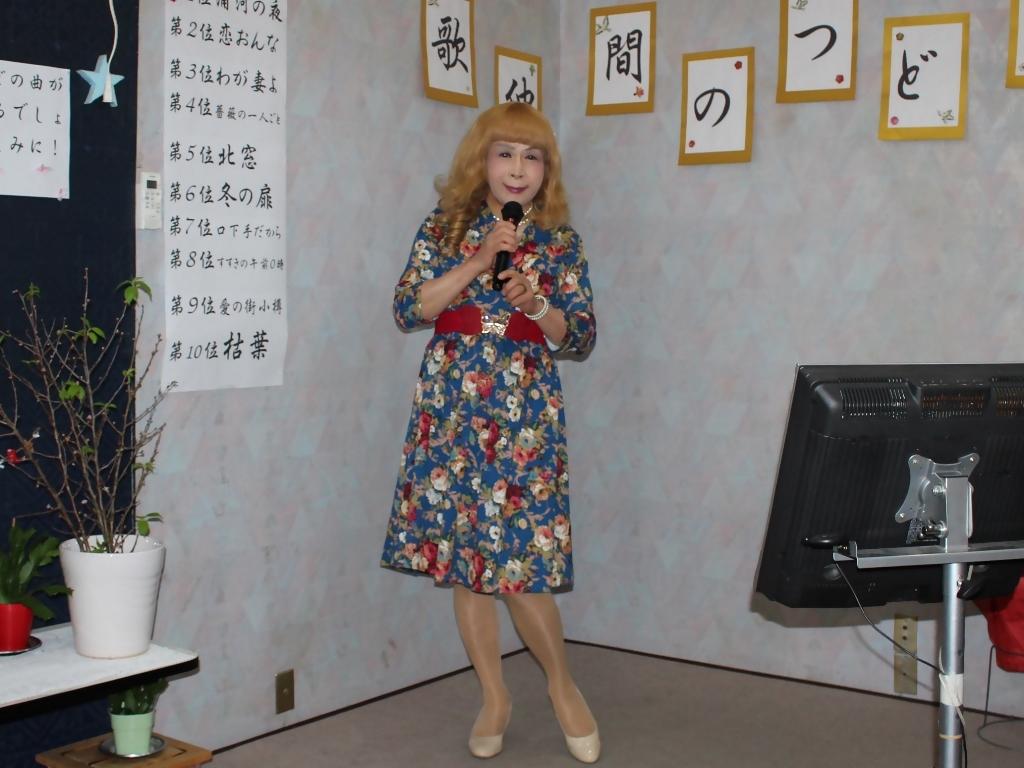 青地総花柄ワンピースE(5)