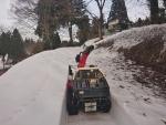 棚田の春先除雪