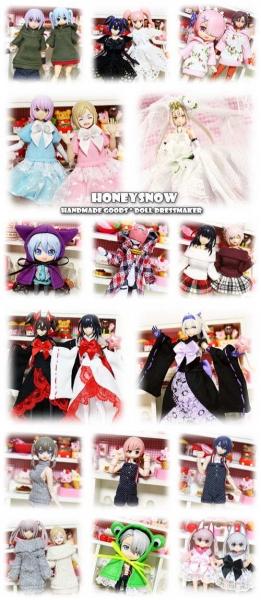 【ドールショウ55春】 参加します。【HoneySnow】 5B-15.16 武装神姫、メガミデバイス、FAガール、ねんどーる、オビツ11、ポリニアン