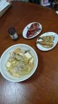 いわし蒲焼き、白菜うま煮、イカの照り焼き