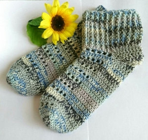 かぎ針編みの靴下