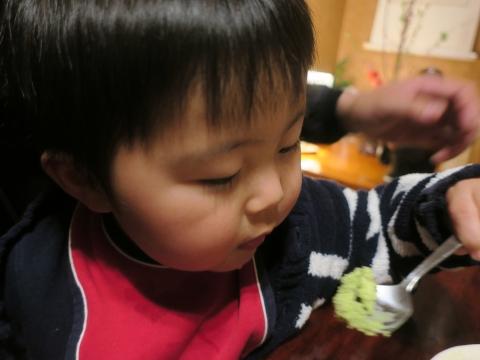 「玲央君、きな粉抹茶アイスを食べる!」③